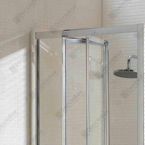 Box doccia cristallo 4 mm 1 lato apertura a libro for Porta a libro con vetro