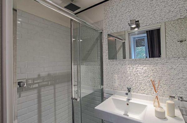 Box doccia in cristallo 6mm trasparente 1 lato apertura scorrevole misura 160 x h185 - Porta scorrevole per doccia ...