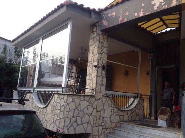 Tenda cristal trasparente con guide per verande e chioschi - Tende doccia rigide ...