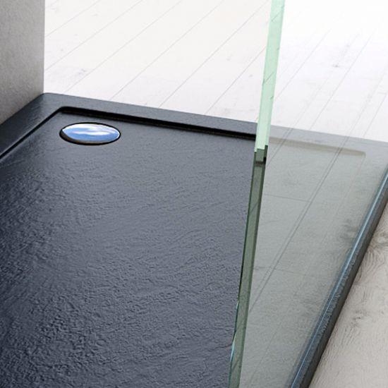 Piatto doccia ultraslim in acrilico alto 4cm nero - Piatti doccia particolari ...