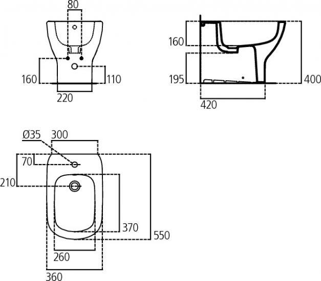 Sanitari filomuro collezione nuova tesi ideal standard for Ideal standard liuto