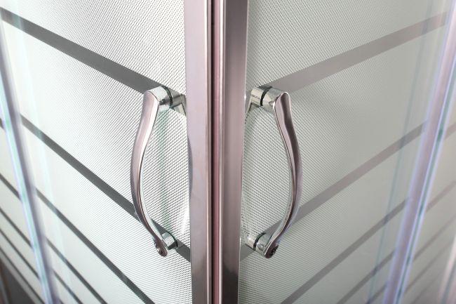 Box doccia cristallo mm profili squadrati montaggio rapido