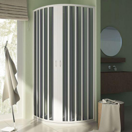 Box doccia giove semicircolare 2 lati apertura centrale doppia anta misura 90x90 xh185 - Cabine doccia a soffietto ...