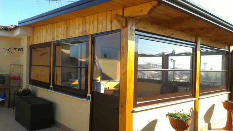 Tende Veranda Trasparenti : Tenda cristal trasparente con guide per verande e chioschi