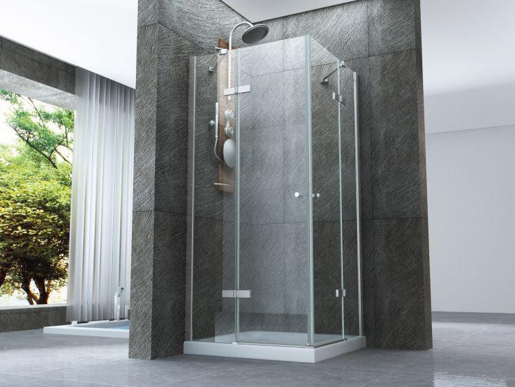 Box doccia cristallo 8 mm frameless due lati doppio - Porte per docce ...