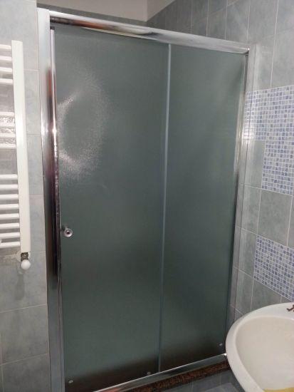 Box doccia in cristallo 6mm opaco 1 lato apertura scorrevole misura 170 x h185 apertura - Vetro doccia scorrevole ...