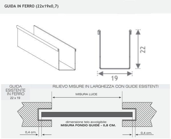 Guide in ferro zincato per tapparelle for Tapparelle per cabina