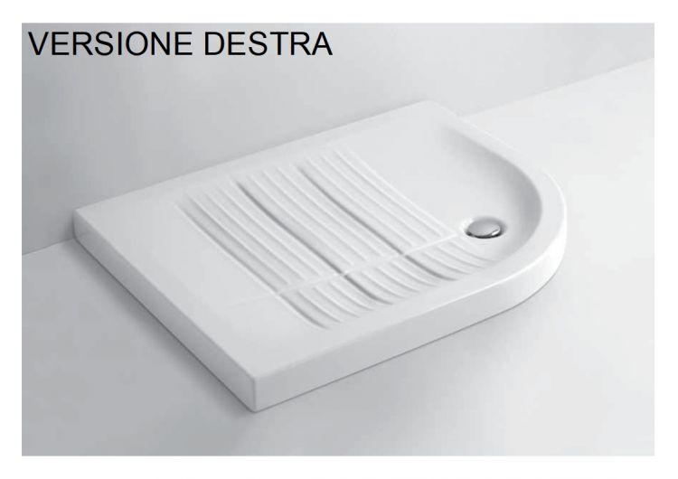Piatto Doccia Ceramica 70x90.Piatto Doccia In Ceramica Ferdy By Azzurra Semicircolare Misura