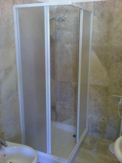 Box doccia in acrilico 2 lati apertura scorrevole opaco for Box doccia scorrevole