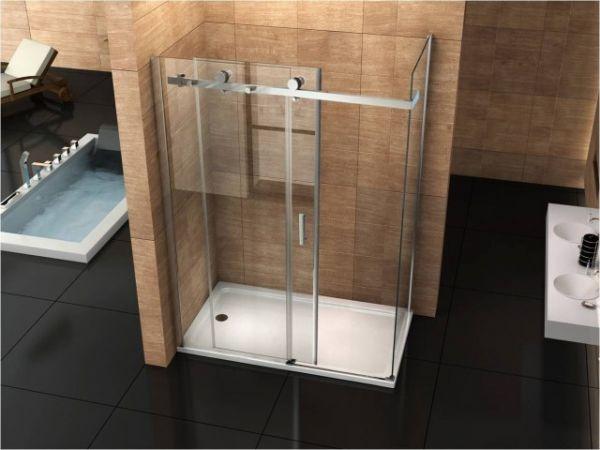 Box doccia in cristallo mm due lati fisso piu porta scorrevole