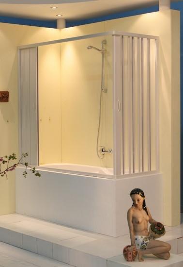 Box vasca galassia 2 lati apertura centrale angolo - Box per vasca da bagno a soffietto ...