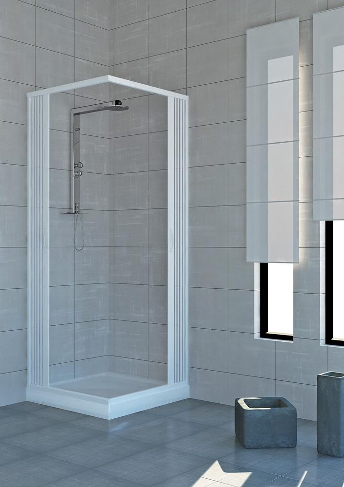 Box doccia luna 2 lati apertura laterale angolo tondo - Cabine doccia su misura ...