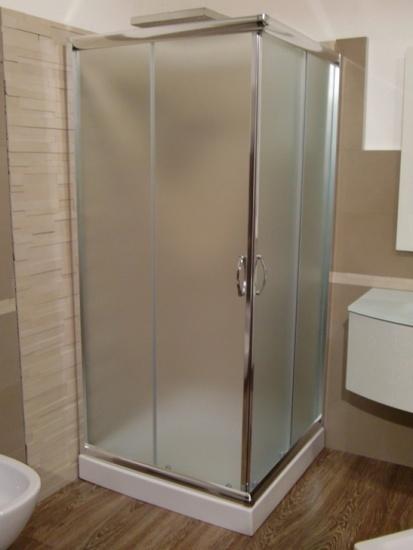 Box doccia in cristallo 6mm trasparente 2 lati for Box doccia cristallo
