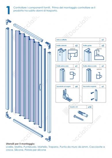 Istruzioni Montaggio Cabina Doccia.Foto 2 Istruzioni Di Montaggio Box Doccia Mod Venere Al Apertura