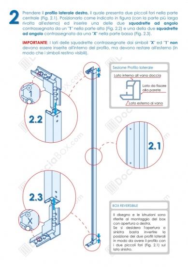 Istruzioni Montaggio Cabina Doccia.Foto 3 Istruzioni Di Montaggio Box Doccia Mod Venere Al Apertura