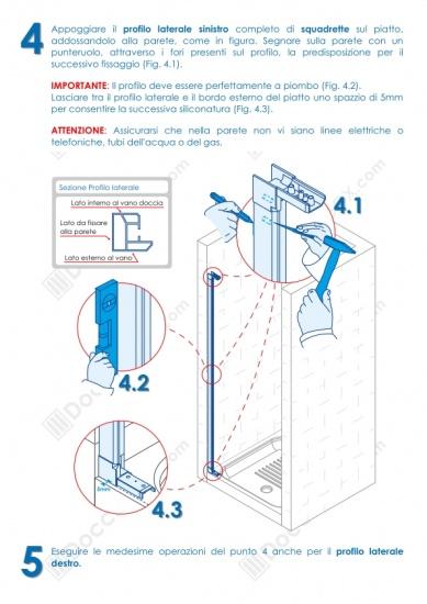 Istruzioni Montaggio Cabina Doccia.Foto 5 Istruzioni Di Montaggio Box Doccia Mod Venere Al Apertura