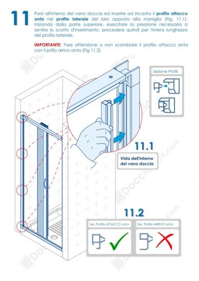 Istruzioni Montaggio Cabina Doccia.Foto 11 Istruzioni Di Montaggio Box Doccia Mod Venere Al Apertura