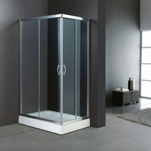 Box doccia cristallo 4 mm 2 lati apertura scorrevole trasparente o opaco - Ante per doccia ...