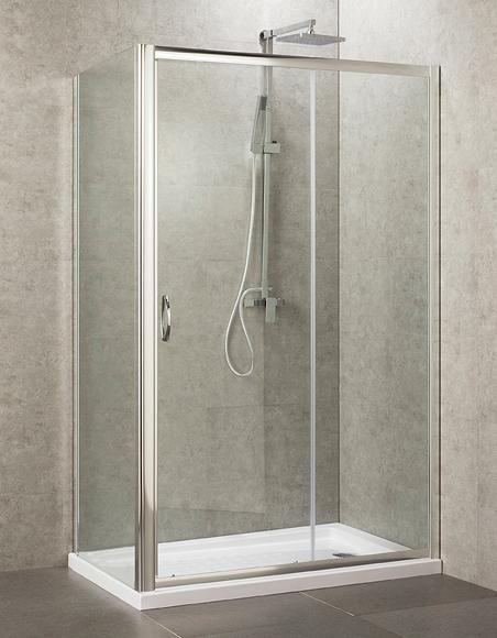 Box doccia cristallo 4 mm 2 lati fisso piu 39 scorrevole for Tapparelle per cabina