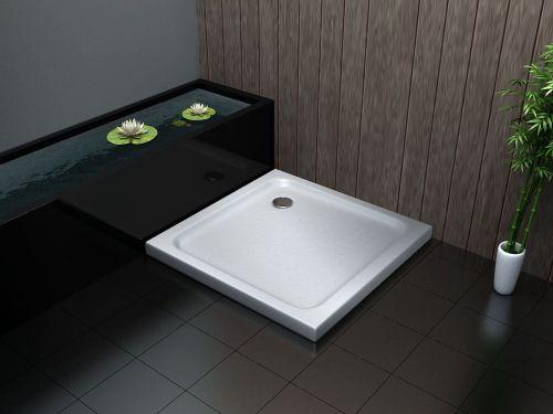 Piatto doccia ultraflat in acrilico alto 5cm quadrato - Piatti doccia particolari ...