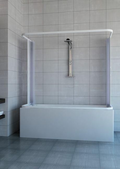 Box vasca venusia 3 lati apertura centrale doppia anta - Box per vasca da bagno a soffietto ...