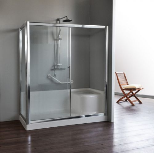 Box doccia per sostituzione vasca incluso di piatto doccia con seduta non disponibile - Sostituzione vasca in doccia ...