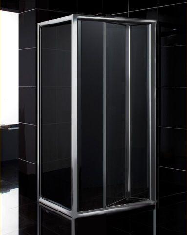 Box doccia cristallo 6 mm 2 lati fisso piu 39 porta a - Doccia senza porta ...