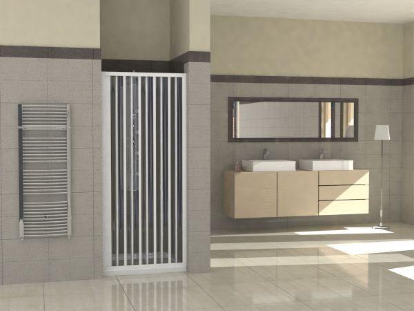 Box doccia in pvc 1 lato apertura laterale a soffietto