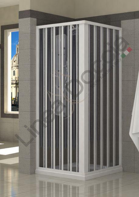Box doccia positano 2 lati apertura centrale ad angolo for Box doccia tre lati leroy merlin