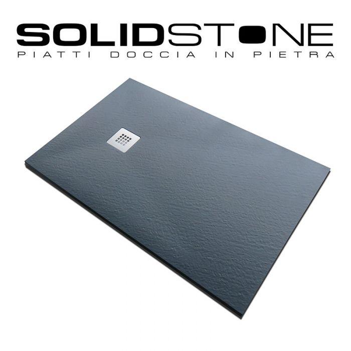 Piatto doccia in pietra solidstone alto 2 8 cm grafite nero - Piatti doccia particolari ...