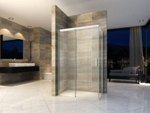Pareti Per Doccia In Vetro : Box doccia in cristallo 8mm due lati con trattamento anticalcare e