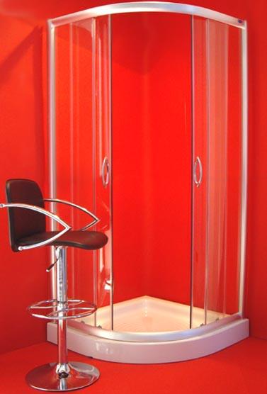 Box doccia cristallo 5 mm semicircolare apertura for Tapparelle per cabina