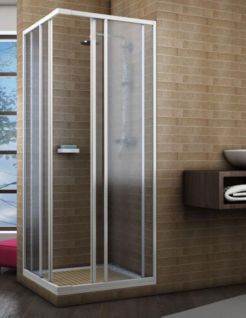 Box doccia acrilico 2 lati apertura scorrevole opaco misura 70 x 70 x h185 estensibile - Cabine doccia su misura ...