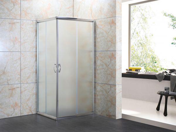 Box doccia in cristallo 6mm opaco 2 lati apertura scorrevole
