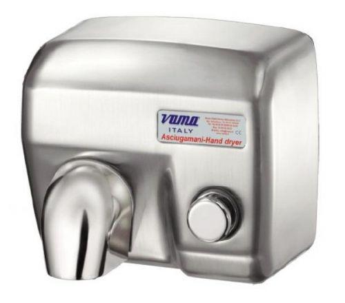 Asciugamani elettrico da parete antivandalo ariel sp acciaio satinato con pulsante - Termoconvettore elettrico da parete ...