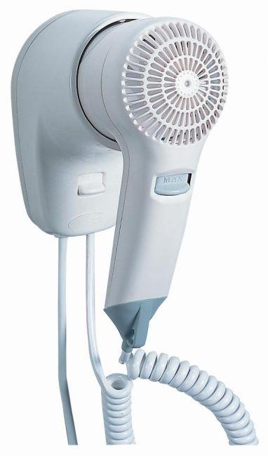 Asciugacapelli elettrico da parete per hotel viento 1 - Termosifone elettrico da parete ...