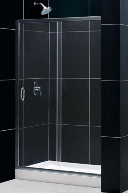 Box doccia cristallo 6 mm 1 lato scorrevole trasparente for Box doccia cristallo