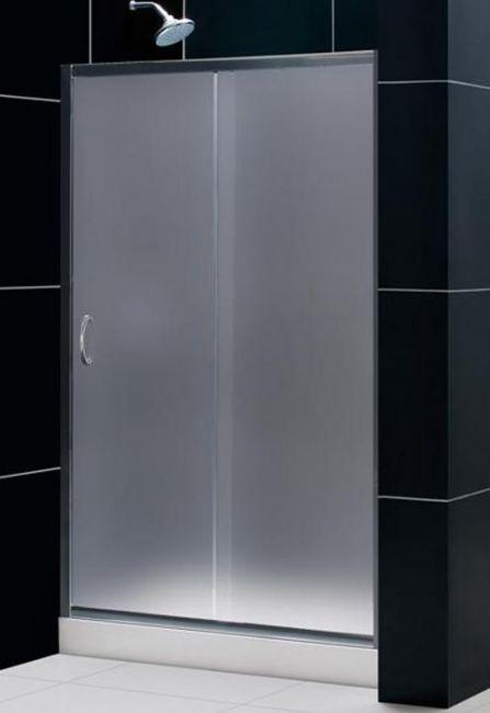 Box doccia cristallo 6 mm 1 lato scorrevole opaco misura 120 x h200 - Vetro doccia scorrevole ...