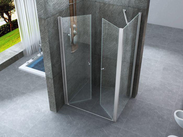Doccia Cabina 70x90 : Box doccia cristallo trasparente mm apertura scorrevole