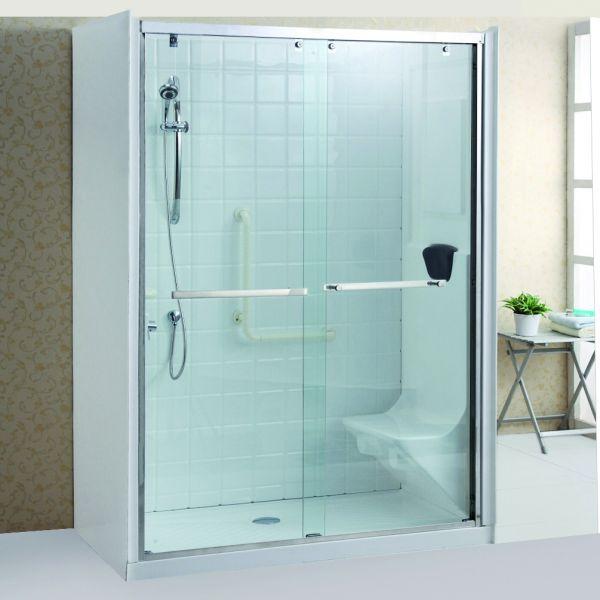 Cabina doccia cristallo 8 mm per anziani trasparente - Foto di bagni con doccia ...