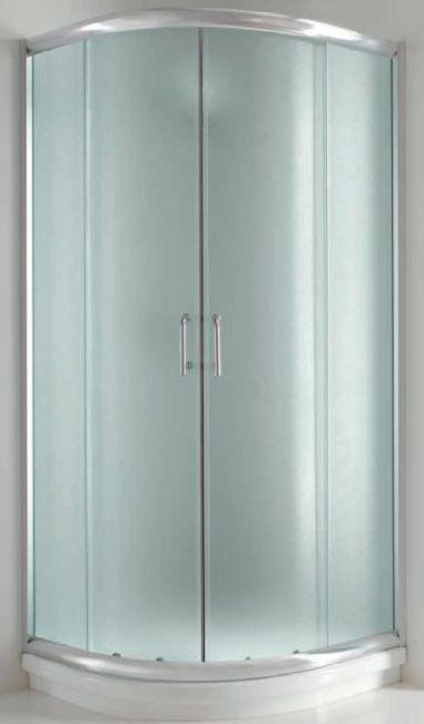 Box doccia cristallo 6 mm semicircolare apertura - Box doccia resina ...