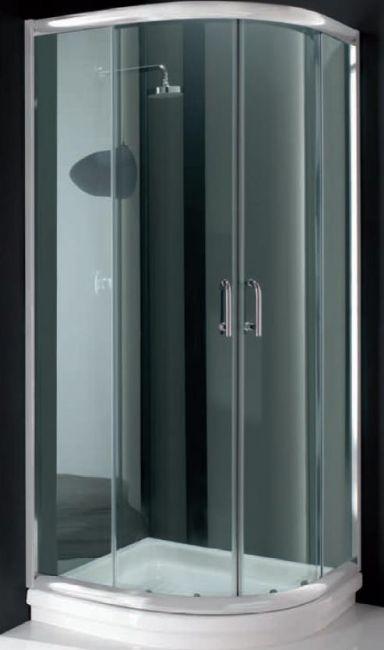 Box doccia cristallo 6 mm semicircolare apertura for Box doccia leroy merlin 90x90