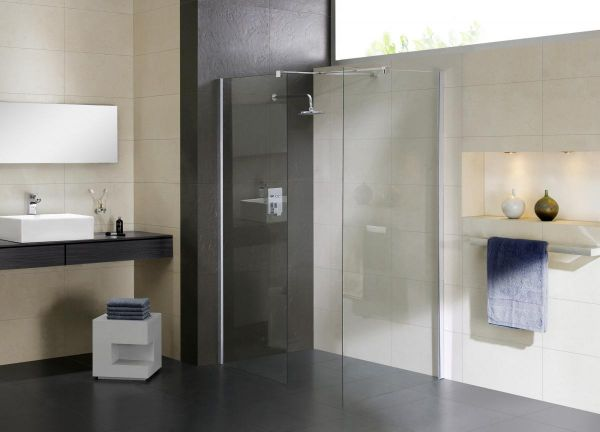 Pareti Per Doccia In Vetro : Box doccia parete in vetro trasparente 8mm walk in corner
