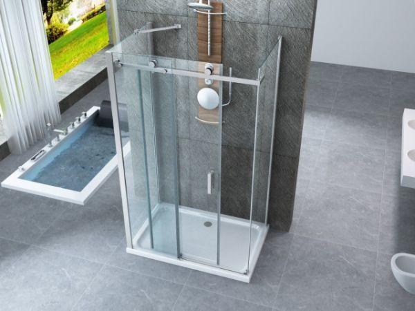 Pareti Per Doccia In Vetro : Box doccia in cristallo 8 mm due tre lati due fissi piu porta