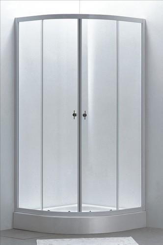 Box doccia cristallo 4 mm semicircolare apertura for Tapparelle per cabina
