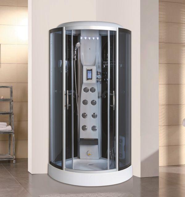 Cabina doccia idromassaggio multifunzione con bagno turco for Box doccia con idromassaggio