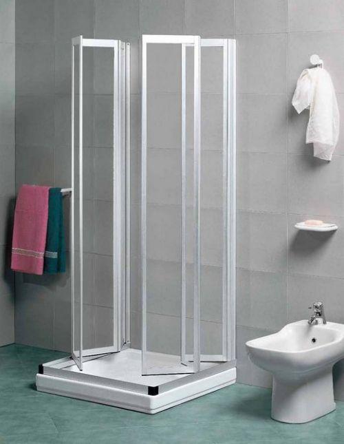 Box doccia 3 lati a scomparsa in metacrilato e alluminio for Leroy merlin cabina doccia