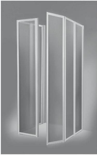 Box Doccia Soffietto Senza Piatto.Box Doccia 3 Lati A Scomparsa In Acrilico E Alluminio